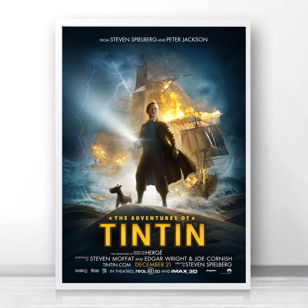 The Adventures of Tintin movie Art Silk Fabric Poster Prints Home Wall  Decor Painting-in Painting & Calligraphy from Home & Garden on  Aliexpress.com ...