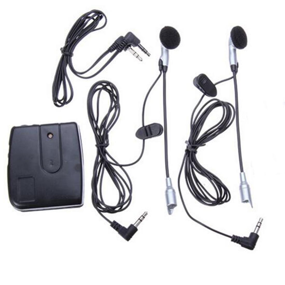 2 Way Motorbike Intercom Motorcycle Helmet Headset Communication System Interphone Motor Headset  Earphone