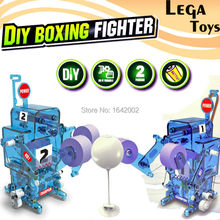 Self-Assembled DIY Electronic  Boxing fighter Building Robot Blocks toys Science And Education Brick Constructor Model kit Toys