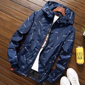 Image 4 - Nuovi uomini giacca con cappuccio Giubbotti Più Il Formato 10XL 9XL 8XL 7XL gli uomini Giacca A Vento Casual Cappotto per Uomo Tuta Sportiva Streetwear giacca