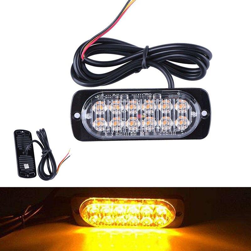 цена на Ultra-thin Car Lights Assembly 36W LED Police Lights 12 LED Car Truck Emergency Side Strobe Warning Light Car-styling
