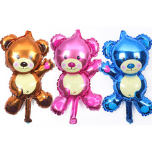 Foil Balloons Bear-Shaped Lovely Toys Birthday-Party Wholesale APRICOT Children's New