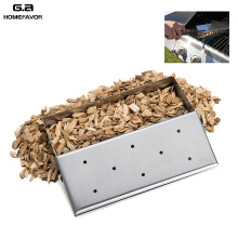 G.a HOMEFAVOR Brand Wood Chip Smoker Box For Grill Stainless Steel Hole Cold Smoke Generator Custom BBQ