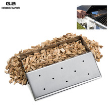 G a HOMEFAVOR Brand Wood Chip font b Smoker b font font b Box b