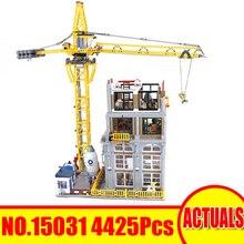 Lepin 15031 4425Pcs City Street Figure Классический строительный сайт Building Blocks Bricks Совместимость Legoed Toy Set Kit Kit Gift