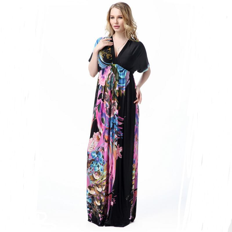 XL 7XL!!!Beach Plus Size Maxi Dress Dresses Women Summer Casual ...