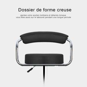 Image 2 - JEOBEST 2 pcs/pair מתכוונן מעלית גז כיסאות בר מודרני עור מפוצל חלול משענת כיסא חדש הגעה HWC