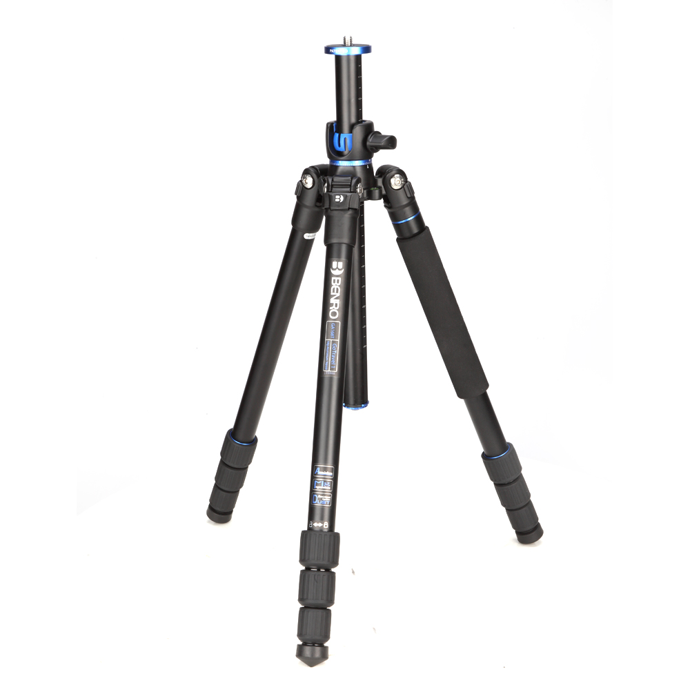 Benro GA168T Lightweight Tripod For Digital Video DSLR Camera Stand Monopod With Quick Release Tripode Action Camera Accessories dhl gopro benro a383ts6 tripod for video