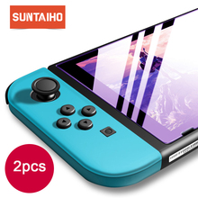 цена на Suntaiho Tempered Glass for Nintendo Switch 3ds Ultra HD Protective Film Nintendos Switch Screen Protector for Nintend Switch