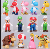 56f73df7ad4799 1 Piece Lot Hot Sales Super Mario Mushroom Man Doll Models PVC Dolls Toy  For Boys