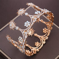 Queen King Wedding Crown Headdress Crystal tiara crown Diadem Tiaras and Crowns for Bride Wedding Jewelry Hair Accessories
