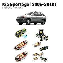 Led interior lights For Kia sportage 2005-2010  9pc Lights Cars lighting kit automotive bulbs Canbus