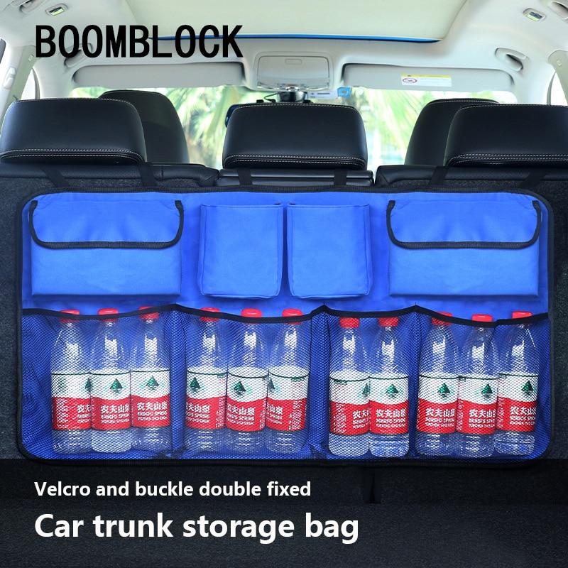 Multi-use Oxford Car Trunk Organizer Backseat Storage Bag Net For VW Golf 4 7 5 MK4 Mazda 6 cx-5 Peugeot 206 207 208 508 Touareg