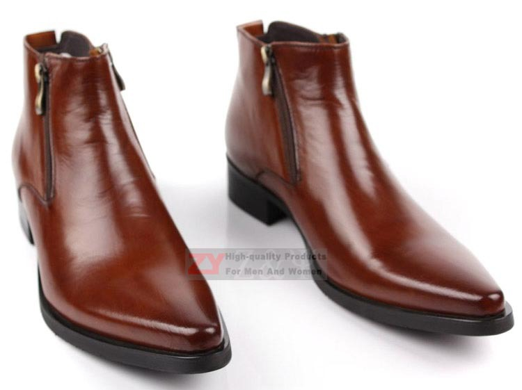 Zip Men Formal Shoes Dress Boots Ankle Boots