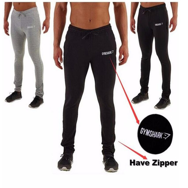 2017 Men's Pants Hot Sexy Fashion Cnopt Casual Trousers New Leisure Facilities Embroidered Pants Elastic Male Fitness Workout