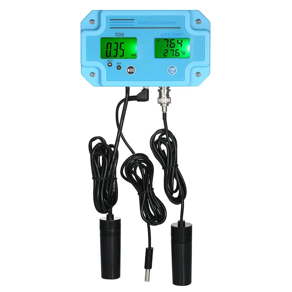 Digital 3 in 1 pH TDS 2983 Meter Water Quality Monitor Detector LCD Tri Meter Multi