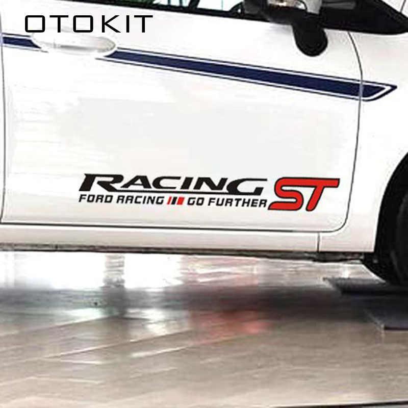 1 ペア 50 × 8 センチメートル ST レーシングモータースポーツさらに行く車のステッカードアステッカーフォードフォーカス 2 フォーカス 3 モンデオフィエスタ久我 MK2 MK3 MK4