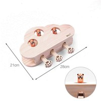 Hit Gophers toys Cat Chase Mouse Solid Wooden Interactive Maze Pet Hit Hamster Mouse Hole Catch Bite Catnip Funny Toy HW031