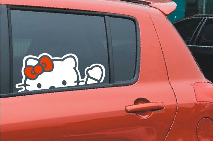 Lovely Hello Kitty Car Decal Stickers Window Sticker Cm On - Hello kitty car decal stickers