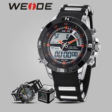 WEIDE watch quartz men sports watch sport digital silicon analog automatic self-wind luxury brand watches box alarm clock table