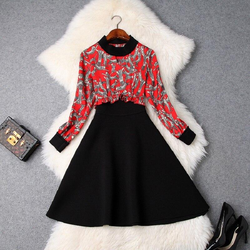Bureau Casual Gratuite Mini Robes Nouveau Livraison High marine 2019 Parti Robe Street Femme Rouge Printemps Bleu Patchwork Élégant Vêtements Empire X7xaq8Aw