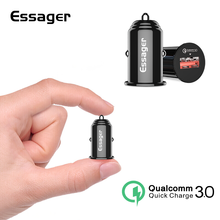 Essager USB Car Charger Quick Charge 3.0 Mobile Charger Car For Samsung Xiaomi Huawei QC 3.0 Fast Charging Car Phone Charger(China)