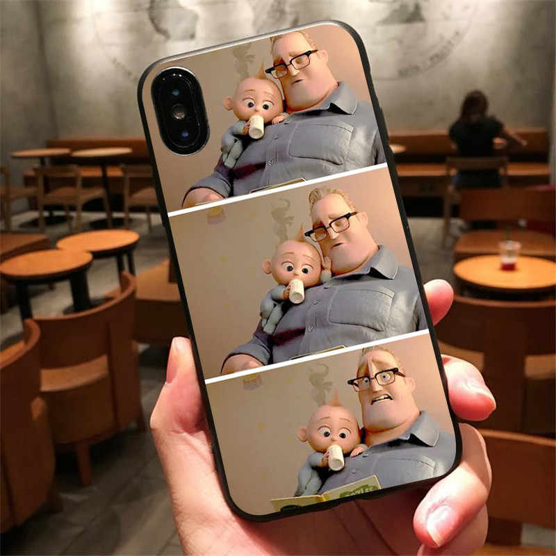 The Incredibles 3 Jack Jack Edna TPU macio caso de telefone Silicone para iphone 6 7 8 plus X10 5 abranger os casos