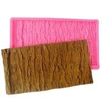 DIY Tree Bark Line Texture Stripe Lace Silicone Cake Mold Fondant Cake Decorating Kitchen Baking Cake