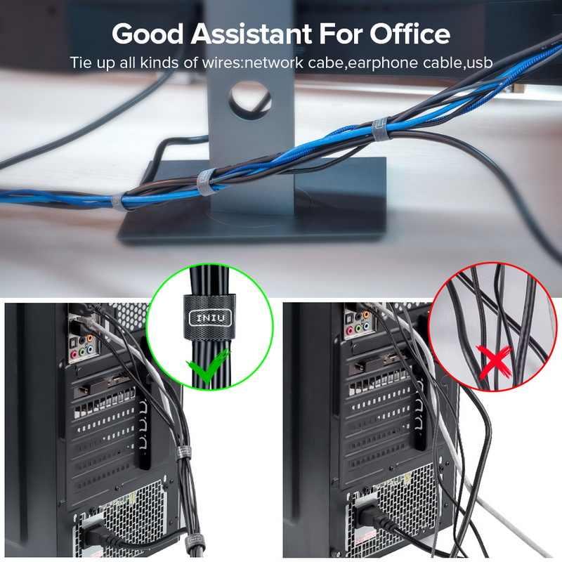 INIU Cavo Filo Organizzatore Argano del Trasduttore Auricolare Supporto Del Cavo Del Mouse Clip di Protezione HDMI di Gestione Dei Cavi Per il iPhone Samsung USB di Tipo C