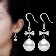 Оптовая продажа серебро 925 пробы модные женские висячие серьги