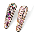 2016New Women Hairclips Luxury Full Rhinestone BB clip headband Super Shiny Clip Barrettes Hair Accessories Hair Pins