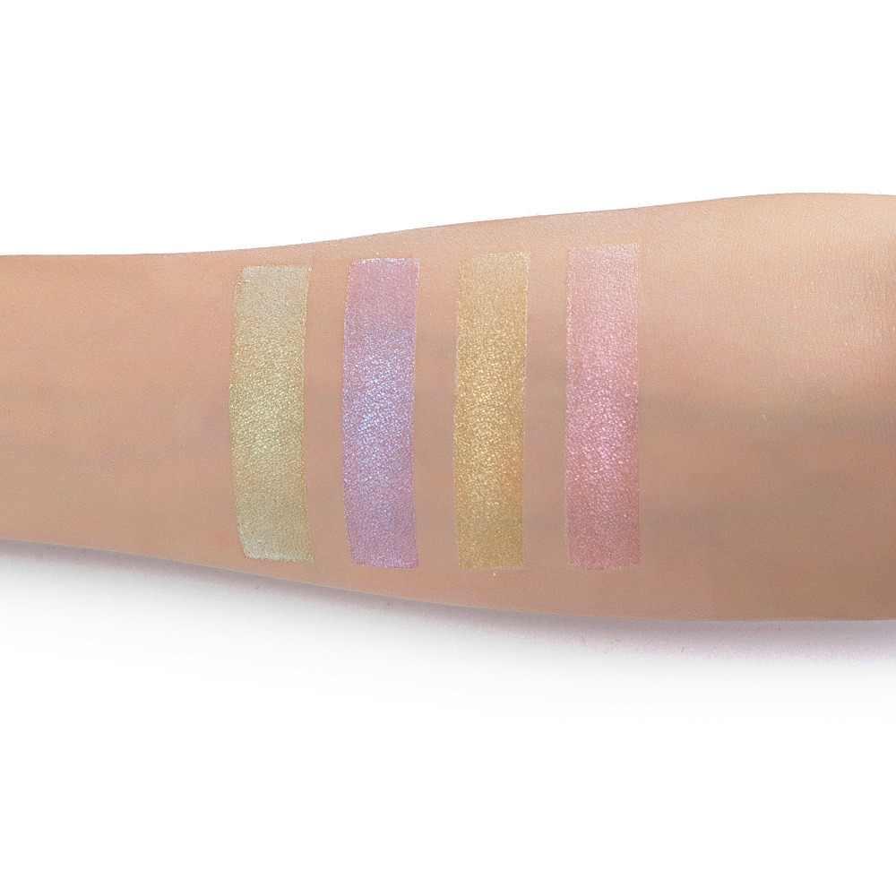 العلامة التجارية ماكياج مشرق ضوء ظلال العيون لوحة 4 لون عارية بلسم المعادن مسحوق أصباغ مستحضرات التجميل بريق عينيه يشكلون