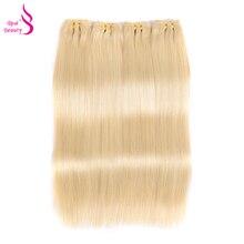 Real Beauty 613 Honey Blonde Brazilian Straight Hair Bundles 100% Human Hair Weave Bundles Platinum Color Remy Hair Bundles