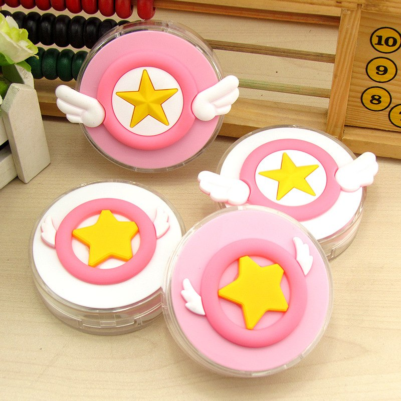 Apparel Accessories Eyewear Accessories Liusventina Diy Resin Cute Cherry Sakura Magic Wand Contact Lens Case With Mirror Box Container For Contact Lens Gift For Girls