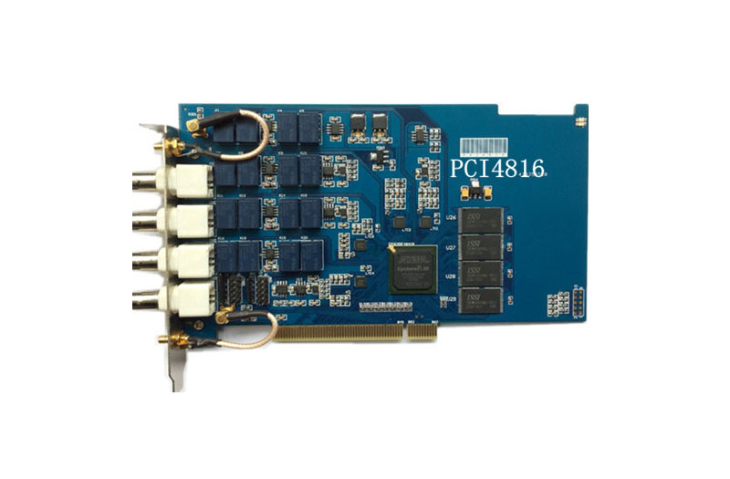PCI4816 data acquisition card, 100MHz sampling, 14 bit, 4 channel high speed data acquisition card