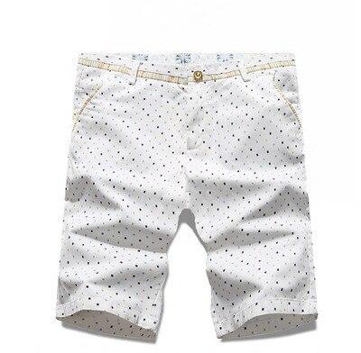 Летний Новый мужской моды пять Шорты печати мужская марка Повседневная хлопок шорты Горошек Slim Fit Пляжные Шорты