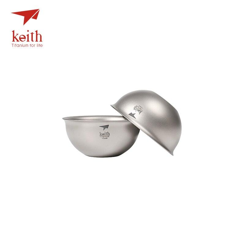 Keith Double paroi titane pur Kongfu chinois tasse à thé tasse à eau voyage en plein air randonnée pique-nique vaisselle tasses à thé seulement 22g