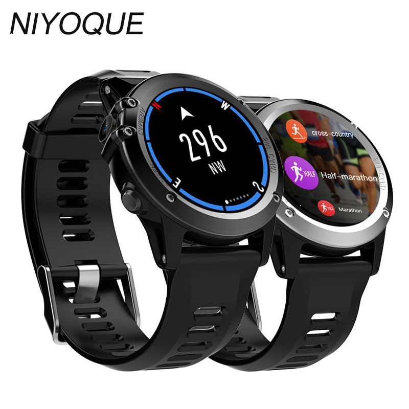 NIYOQUE H1 Smart Watch MTK6572 IP68 Waterproof 1.39inch 400*400 Camera GPS Wifi 3G Heart Rate Monitor 4GB+512MB For Android IOS smartch h1 smart watch ip68 waterproof 1 39inch 400 400 gps wifi 3g heart rate 4gb 512mb smartwatch for android ios camera 500