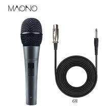 Maono Profissional Microfone Dinâmico Cardióide Vocal MICROFONE Com Fio Com Cabo XLR Plug And Play Microfone para Karaoke KTV Stage