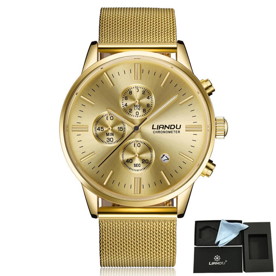 HTB1IOQiQXXXXXcsXVXXq6xXFXXXr - LIANDU Gold Black Luxury Fashion Watch for Men