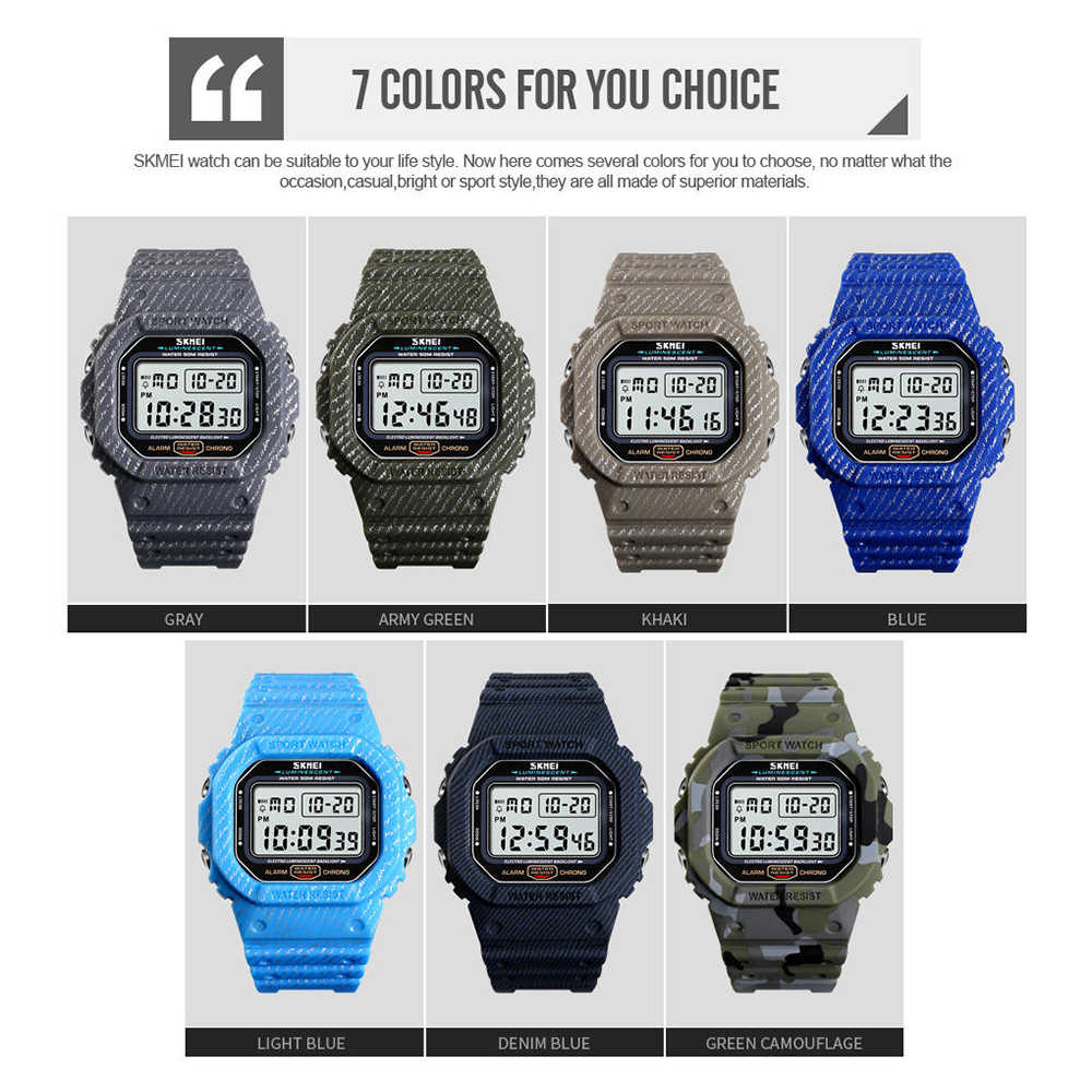 c252250adccd ... SKMEI Outdoor Sport Watch Men 5Bar Waterproof Watches Alarm Clock Week  Display Military Fashion Digital Watch