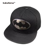 Kakaforsa Men Superman Bat Cotton Baseball Caps Fashion Women Adjustable Solid Snapback Cap Casual Bone Hip