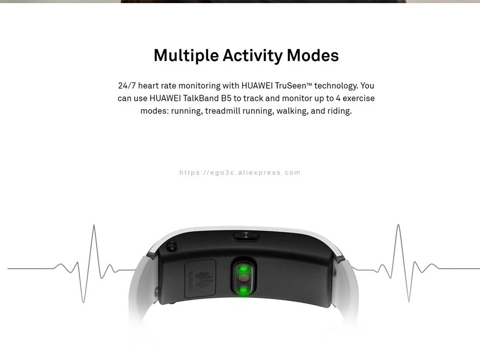 US $121 0 |Huawei TalkBand B5 Talk Band B5 Bluetooth Smart Bracelet Color  Screen Health Bracelet Wrist Bluetooth Headset Fitness Wearable-in Smart