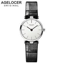 Agelocer swiss marca de luxo senhoras relógio moda couro relógio de pulso de quartzo menina para mulher vestido relógios relógio relogio feminino