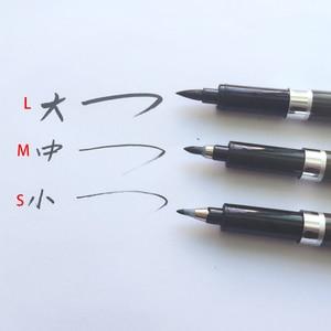 Image 5 - 3 Teile/satz Pinsel Stift Kalligraphie Stift Chinesische Wörter Lernen Schreibwaren StudentArt DrawingMarker Stifte Schule Liefert