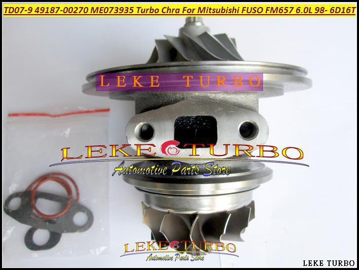 Turbocharger Cartridge TD07-9 49187-00271 49187-00270 ME073935 Turbo Chra For Mitsubishi FUSO FM657 Truck 6.0L 1998- 6D16T 6D16 брюки mustang 3102 6691 183