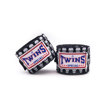 2pcs/set 5m TWINS Boxing Hand Wraps Strap Kick Handwraps for Training 5cm Width Bandages Muay Thai Karate  Mma Gloves A