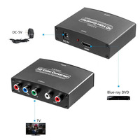 HDMI to YPbPr/component 1080p Video R/L Audio Output 1080P HD Video Converter Adapter FOR PS4/BluE-ray DVD/Wii /PSP/HD TV