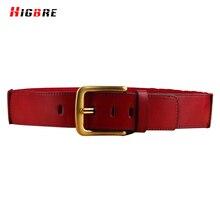 HIGBRE High Quality Womans Cowhide Genuine Leather Belt Luxury Brand Buckle Belts Female Ceinture Femme De Marque Luxe 2017