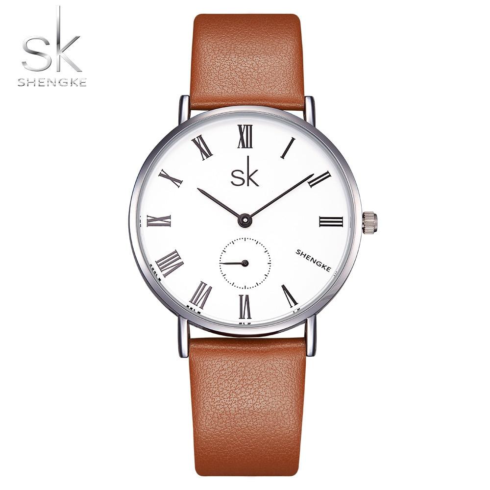 SK Super Mince 7.6mm Horloge Femmes Quartz Casual Montres JAPON Bracelet En Cuir Montre-Bracelet Femmes Mode 2017 Relogio Feminino